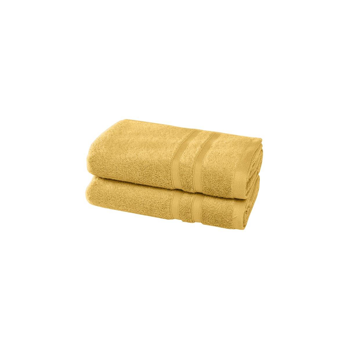 2 serviettes en coton bio Miel 50x100 cm