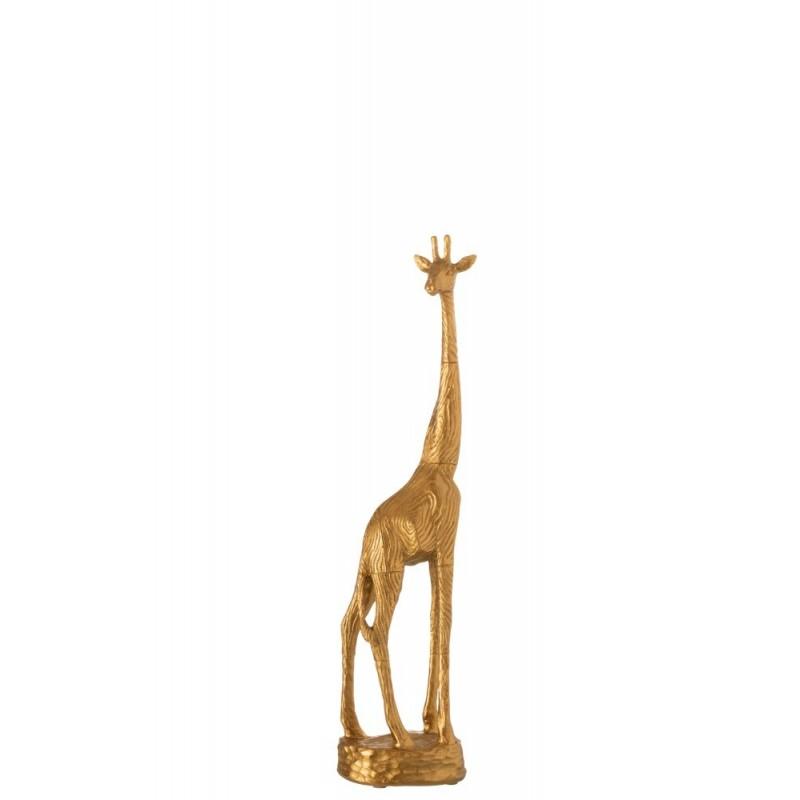 Girafe en résine dorée H45cm