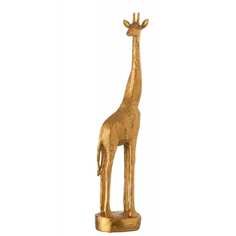 Girafe en résine dorée H64cm
