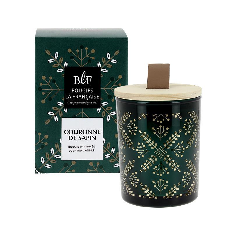 Bougie parfumée couronne de sapin