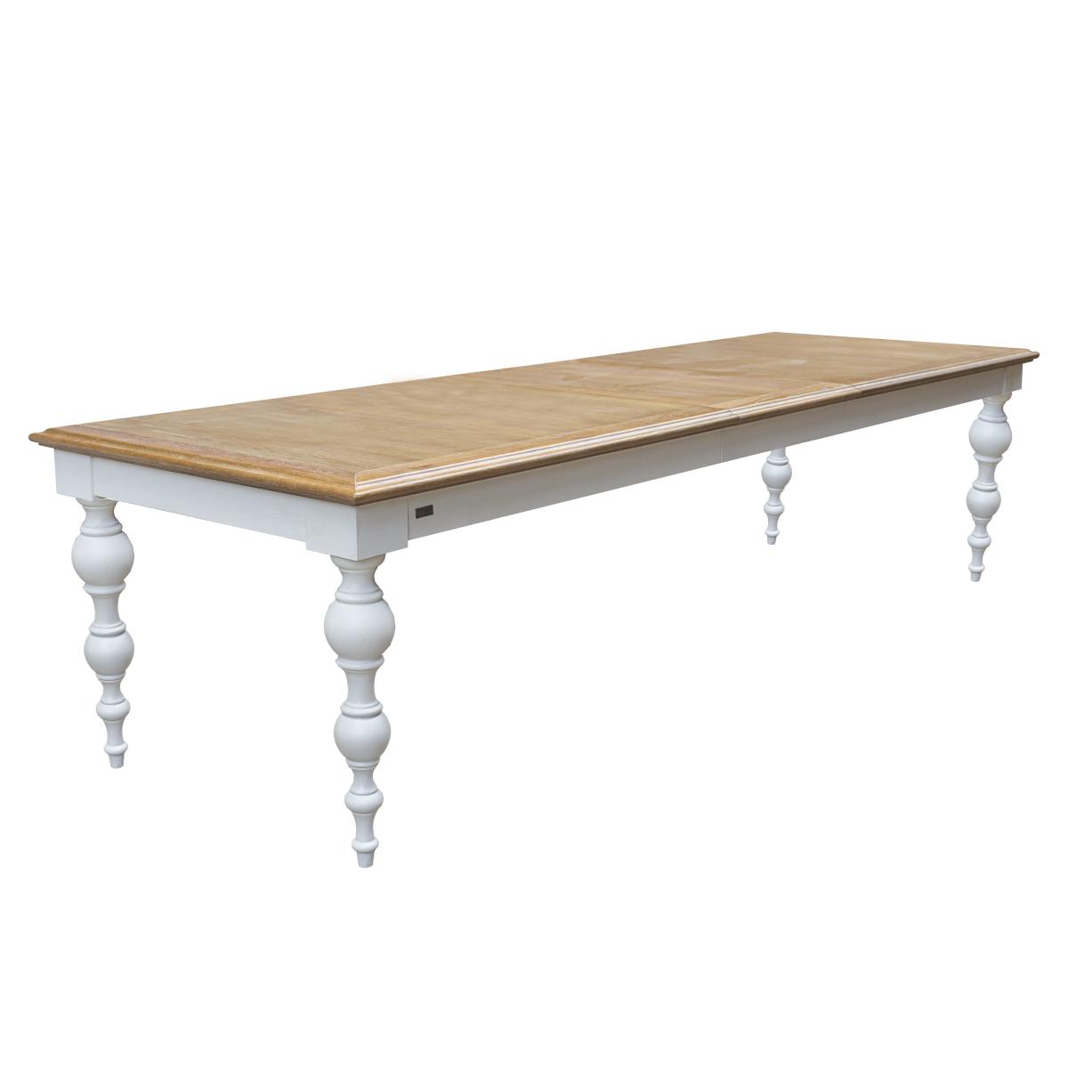 Table en chêne et pieds peints