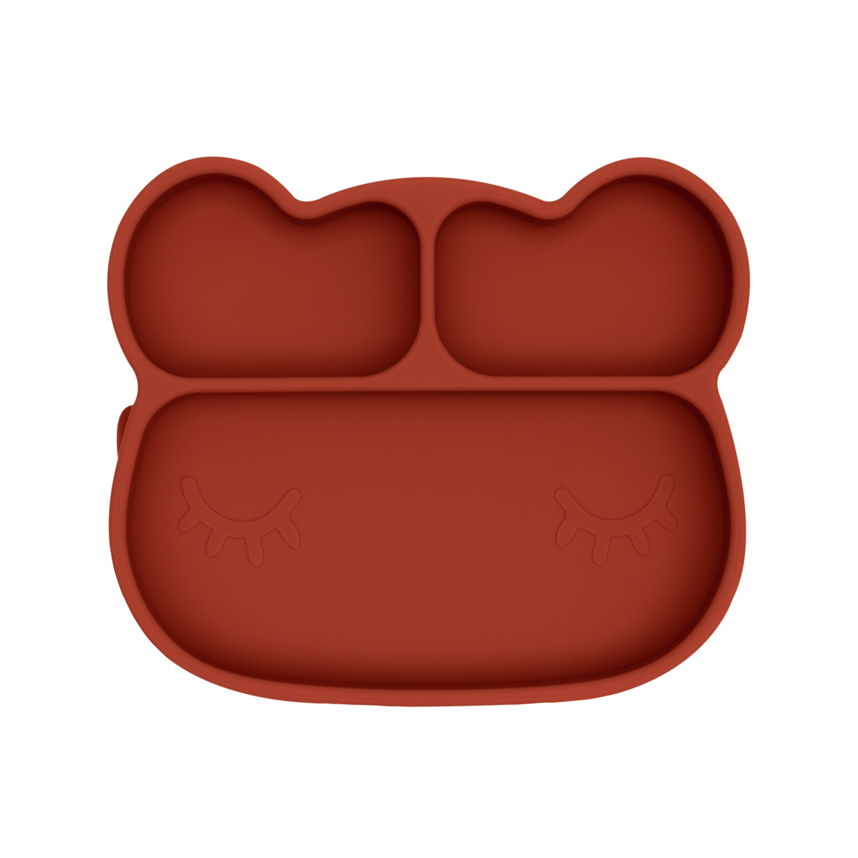 Assiette en silicone ours