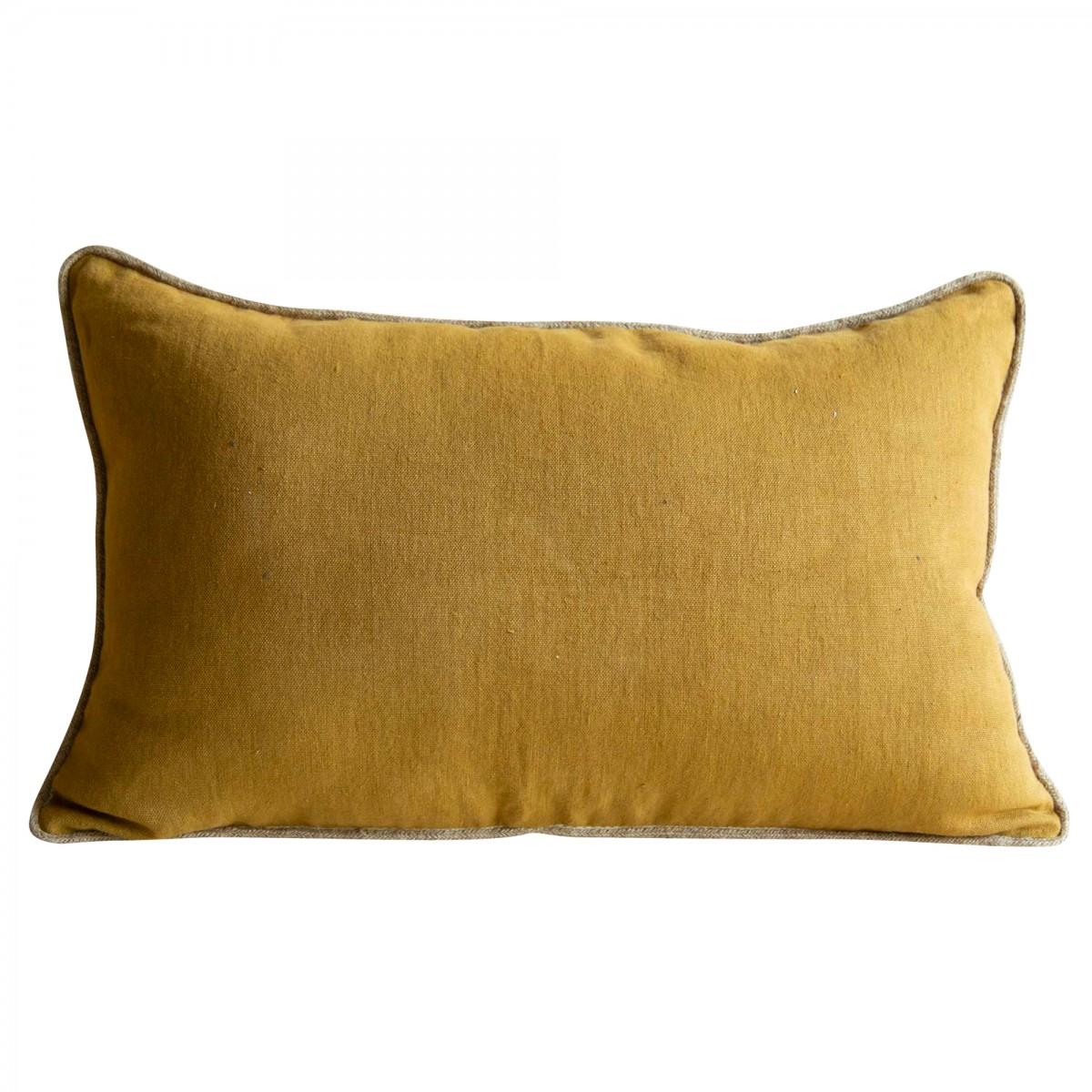 Coussin en lin jaune 40x65