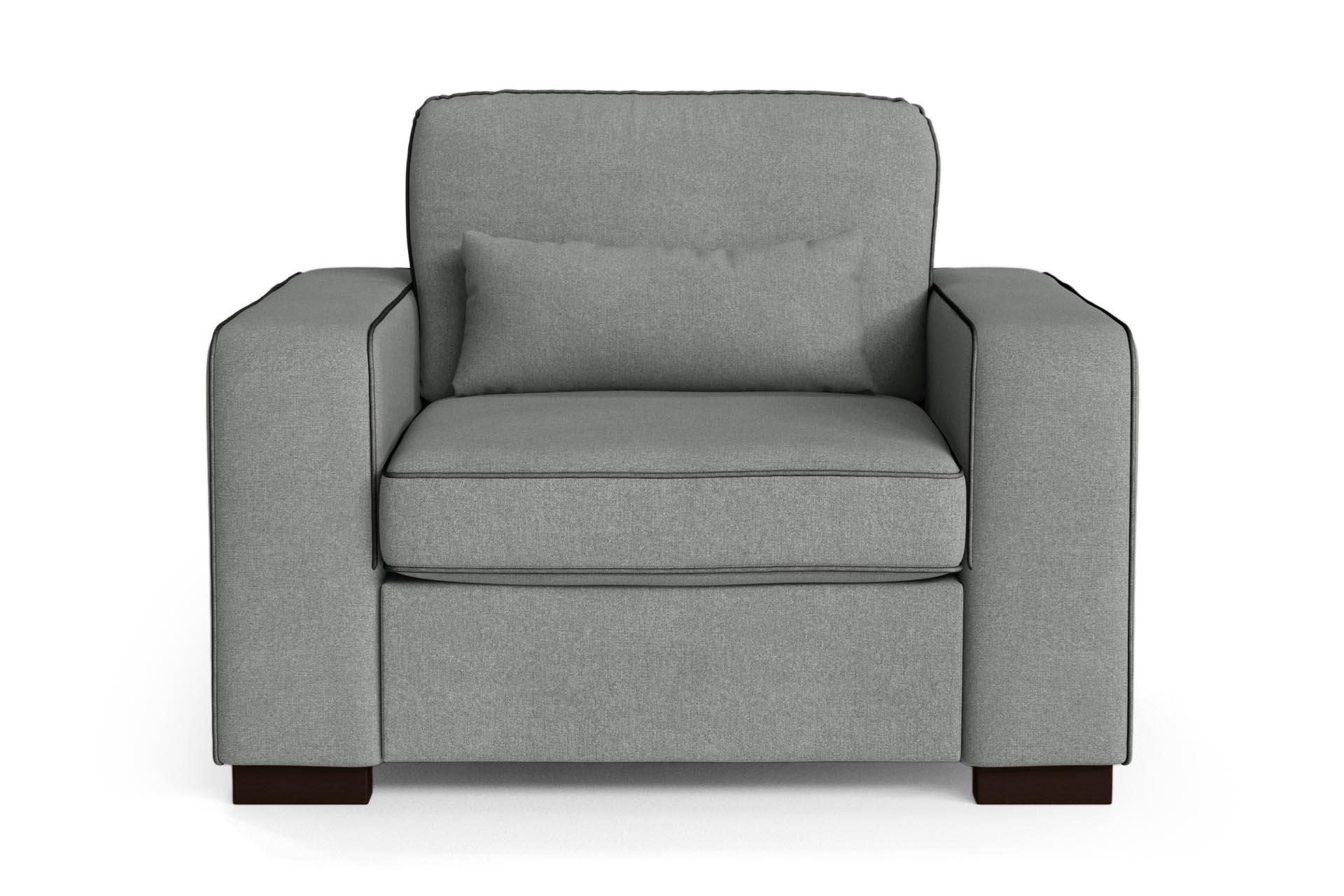 Fauteuil 1 place toucher coton gris/anthracite