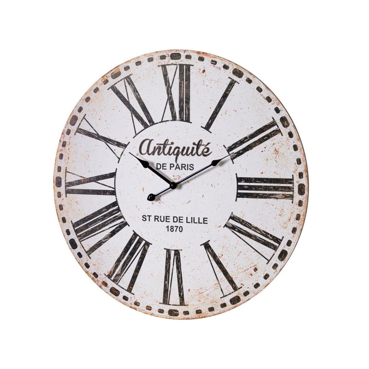 Horloge murale ronde en bois D60cm
