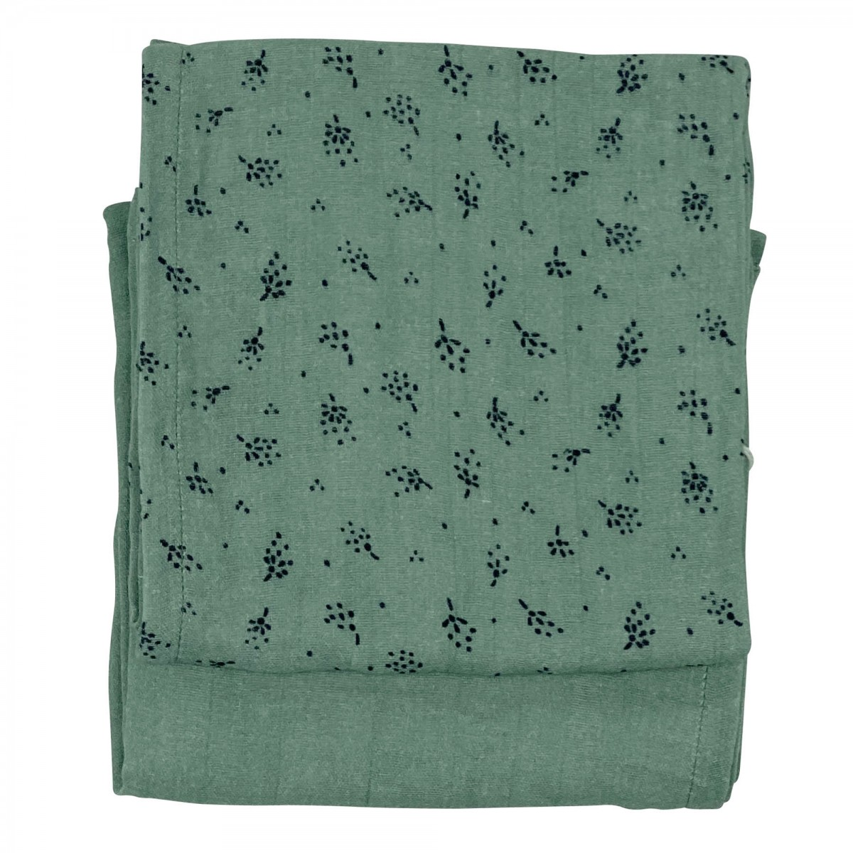 Langes en gaze de coton biologique à motifs vert