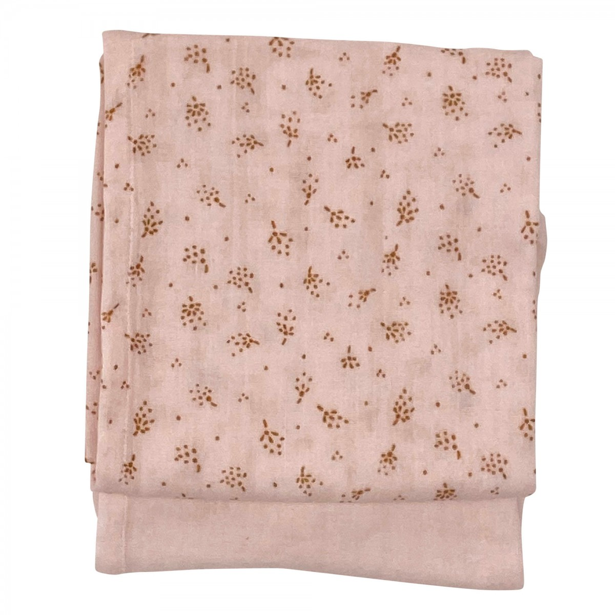 Langes en gaze de coton biologique à motifs rose clair