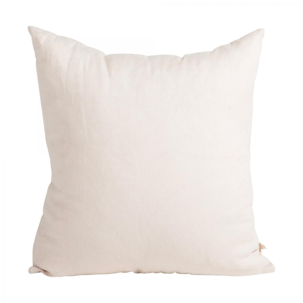 Coussin en lin lavé beige 45x45