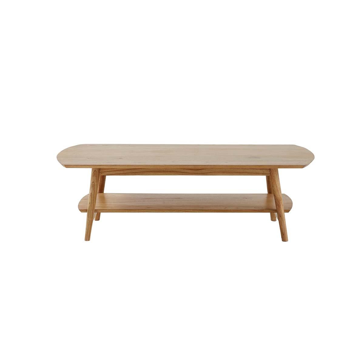 Table basse vintage double plateau en mindy