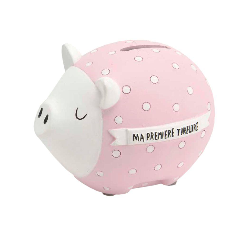 Ma première tirelire cochon rose