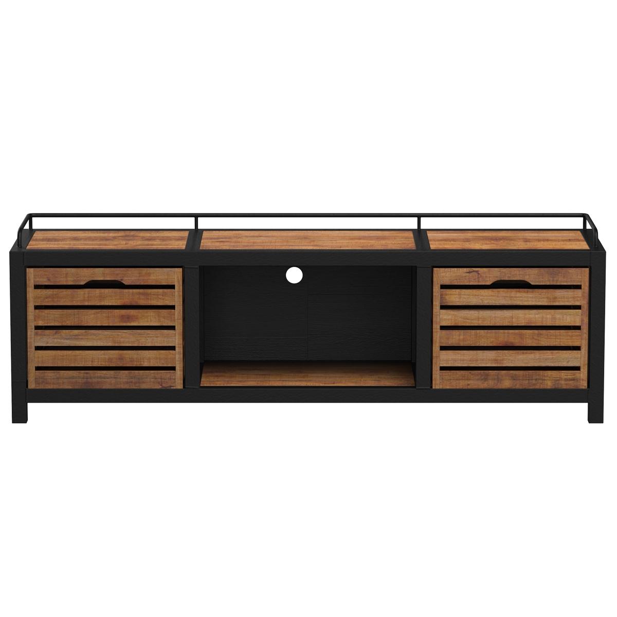 Meuble TV en bois de cèdre recyclé et métal