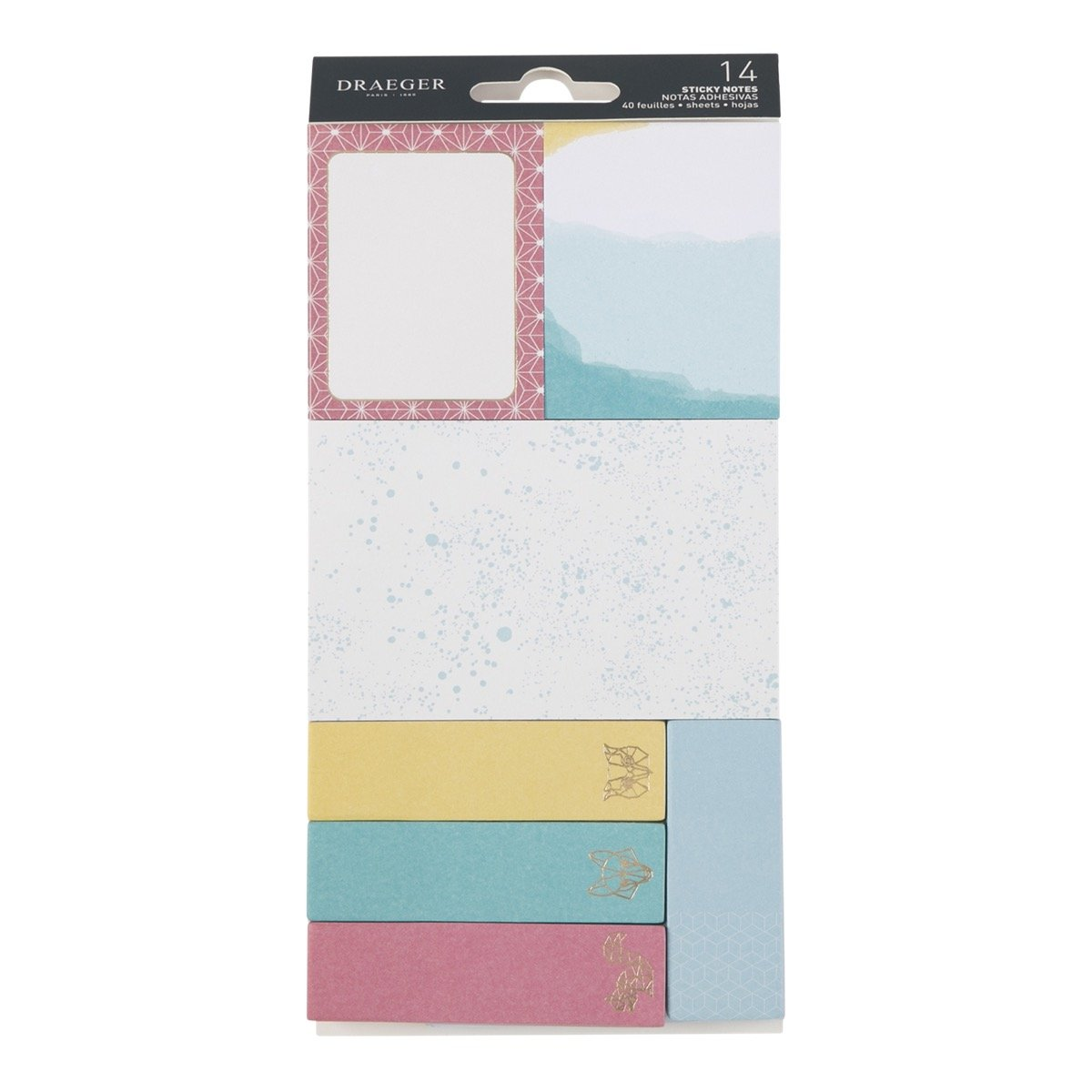 12 Blocs De Sticky Notes - Multicolore