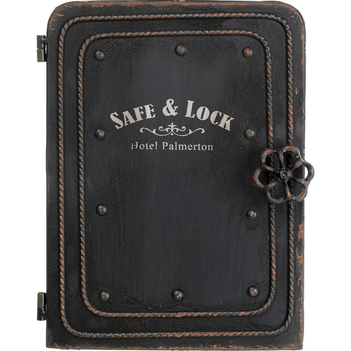 Armoire à clés 4 crochets en acier