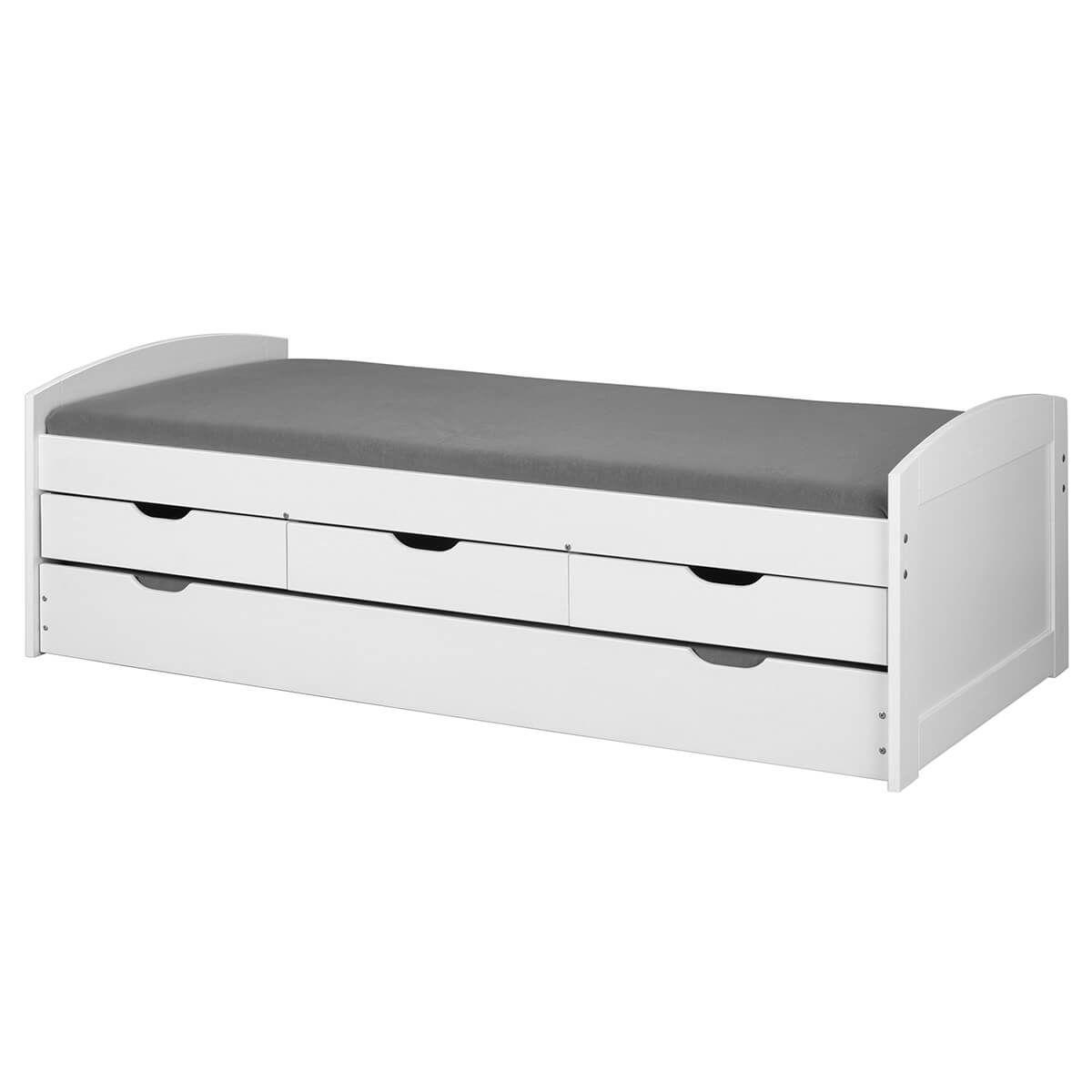 Lit 90x200 gigogne + 3 tiroirs