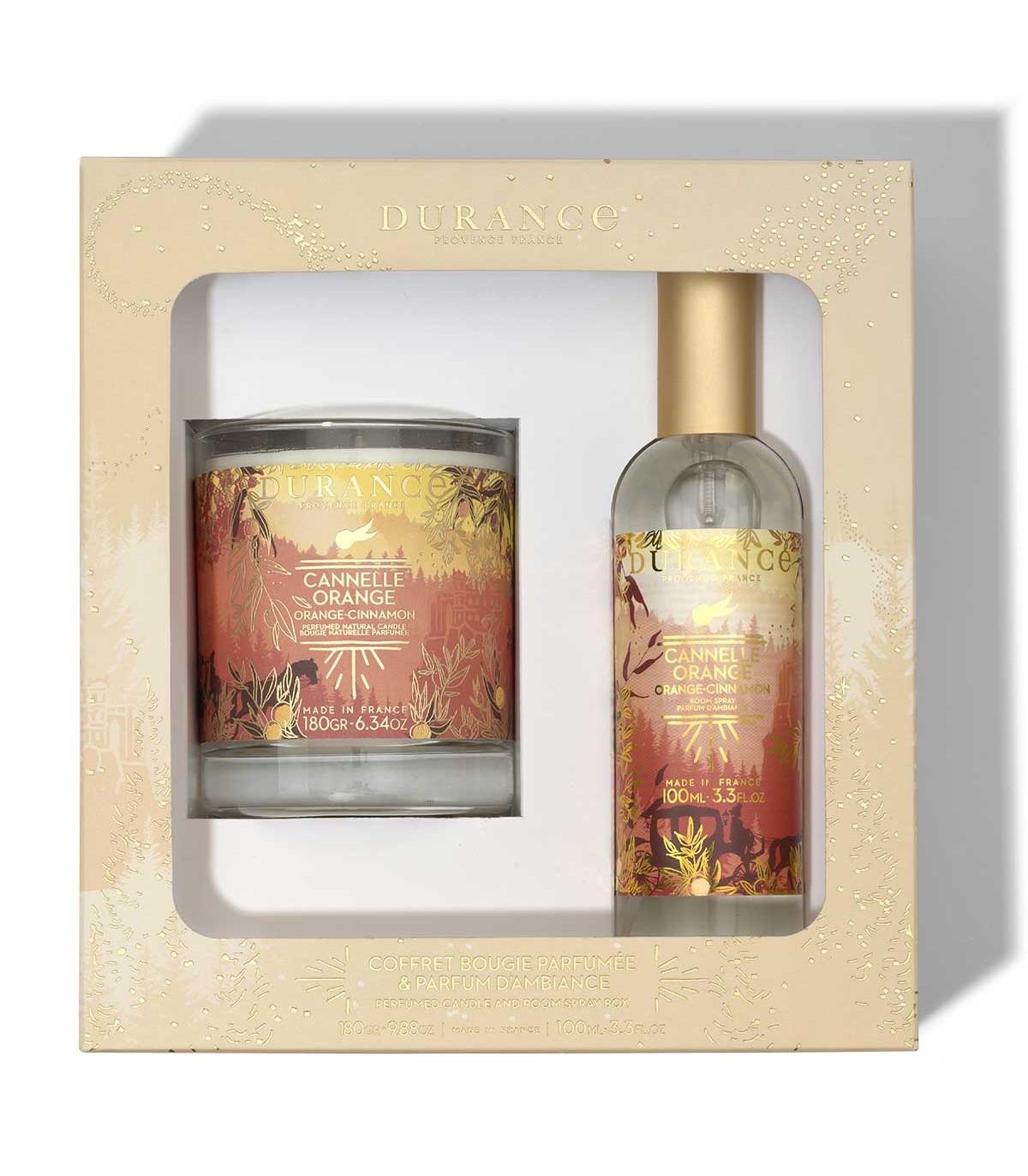 Coffret Bougie et Parfum d'Ambiance Cannelle Orange