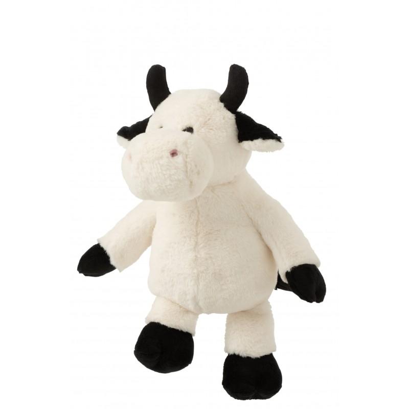 Peluche vache écru et noir