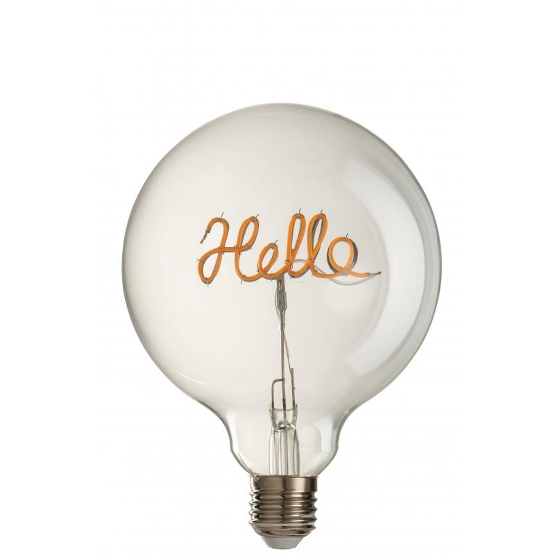 Ampoule led hello en verre jaune/transparent E27