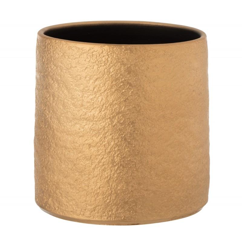 Cache-pot céramique or H25cm