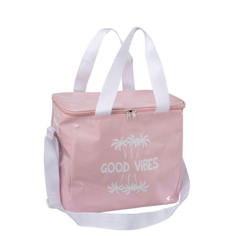 Sac isotherme polyester rose clair