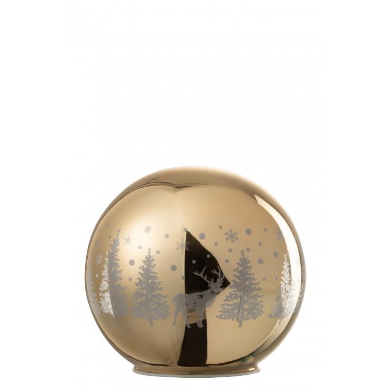 boule décorative led verre or