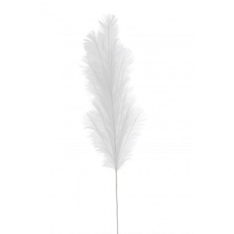 Branche plumeau en plastique blanc H134cm