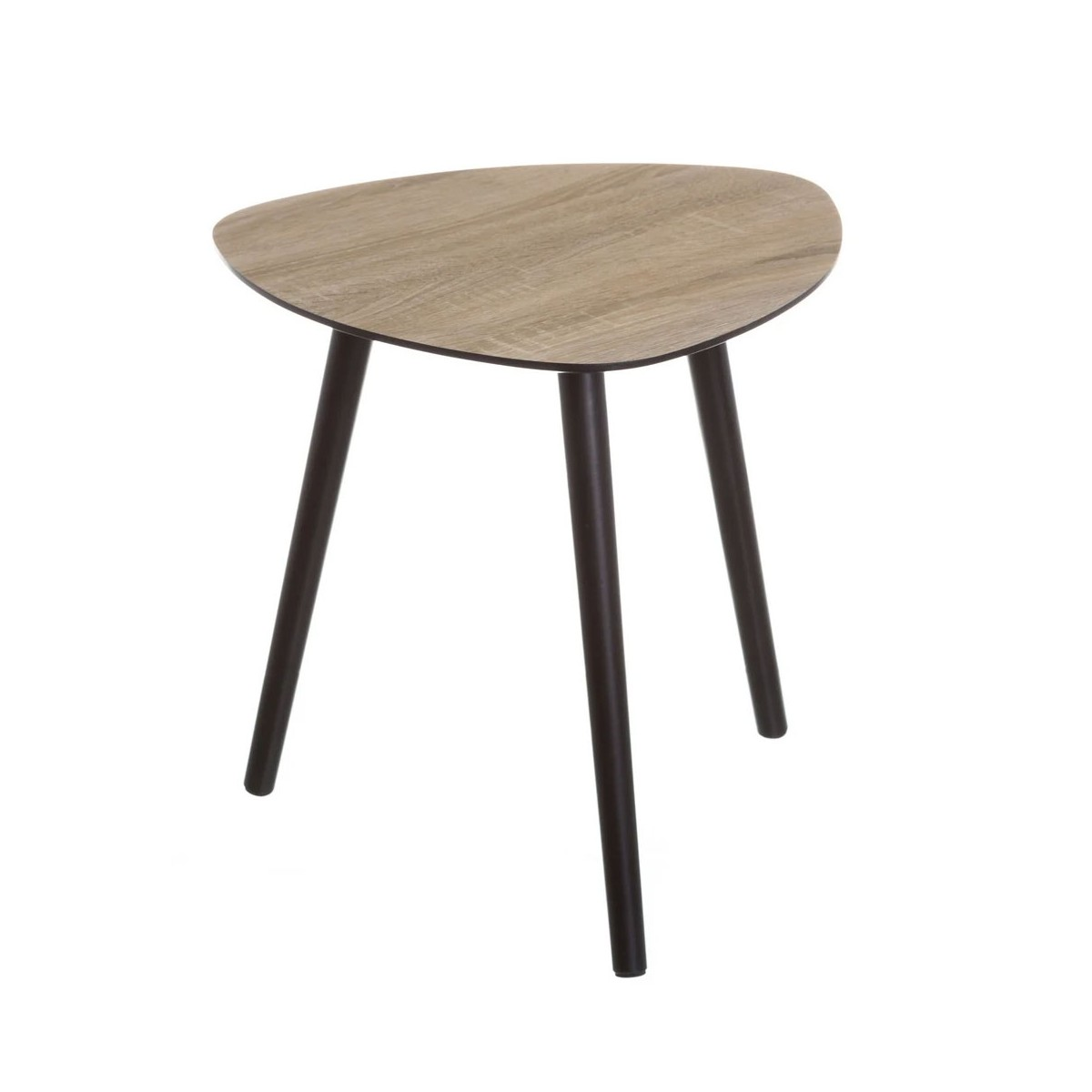 Table d'appoint trépied bois et noir