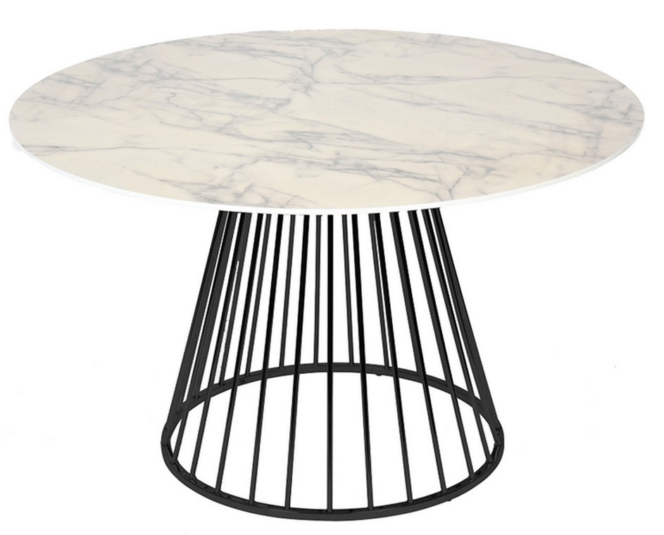 Table repas ronde marbre D100