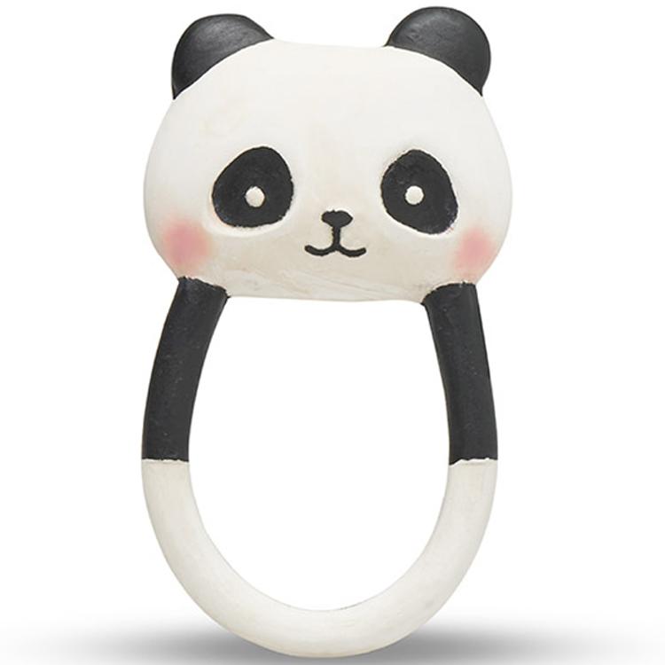 Anneau de dentition panda Kori en caoutchouc naturel Blanc