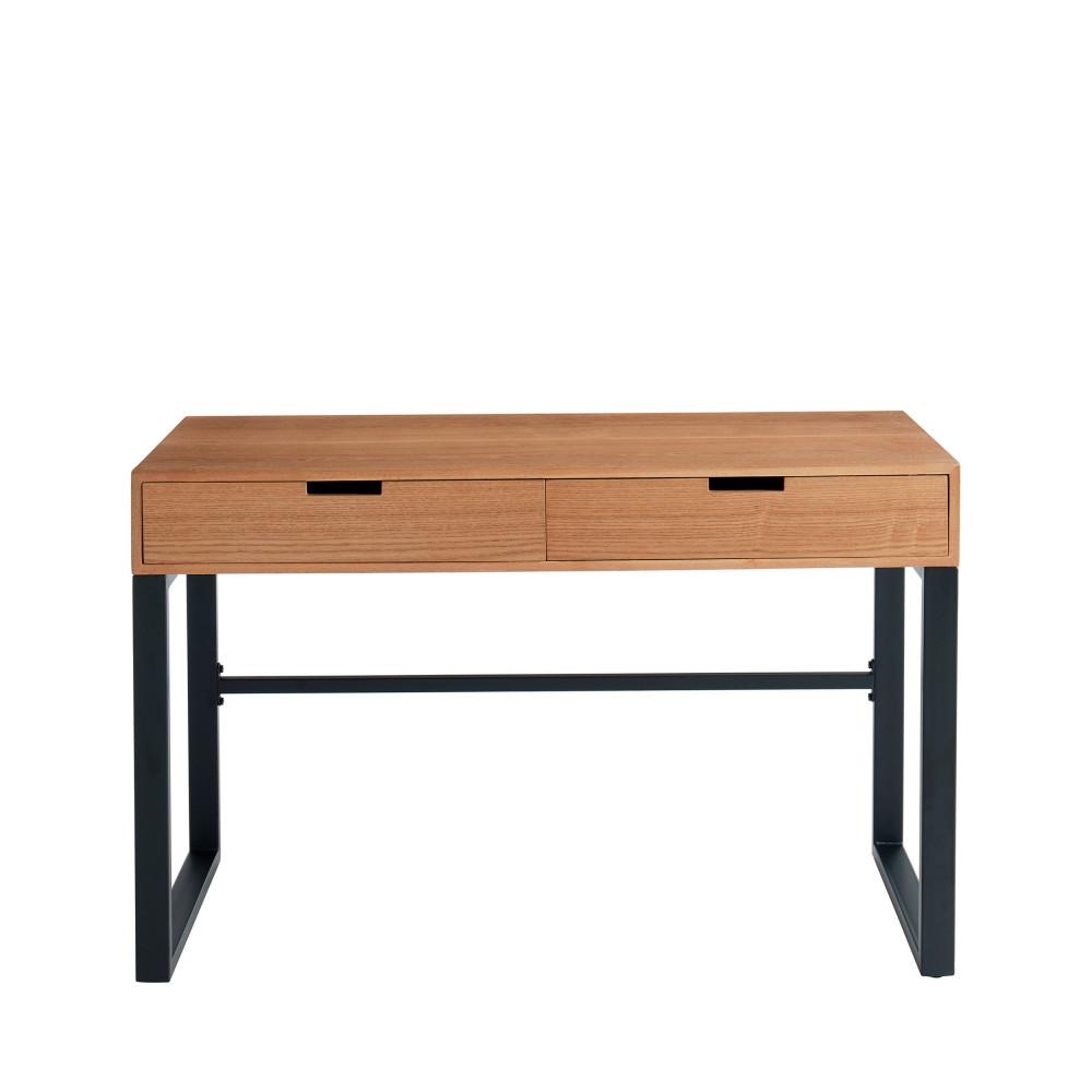 Bureau en bois et métal L120cm bois clair