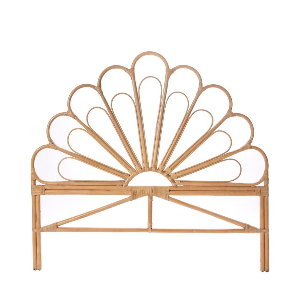 Tête de lit design en rotin 148cm