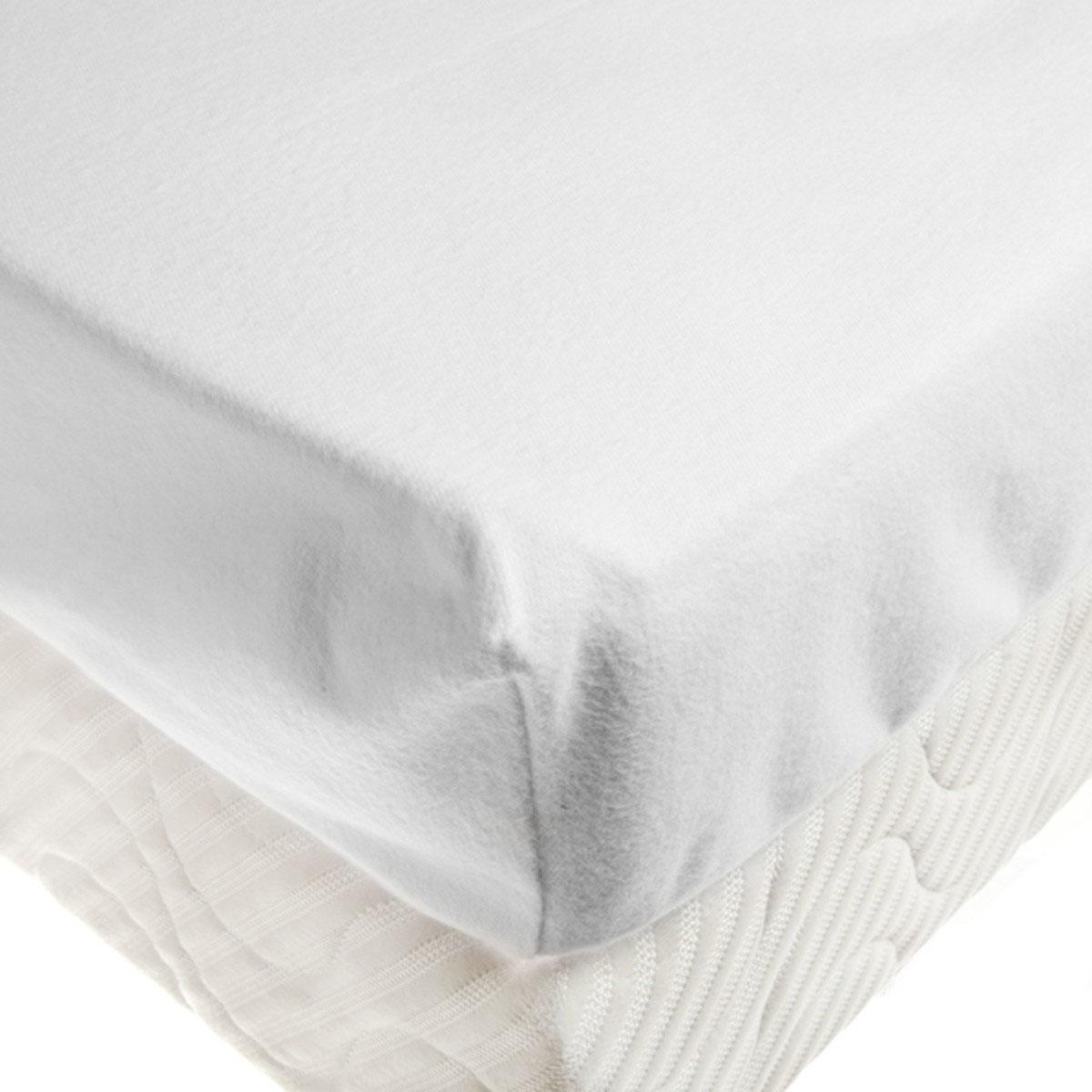 Protège-matelas bébé en 100% coton bio blanc 70x140 cm