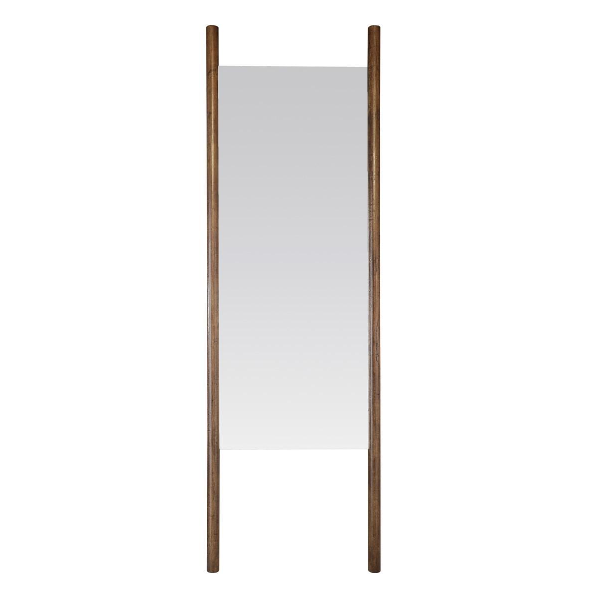 Miroir à poser en bois marron foncé 54 x 170 cm