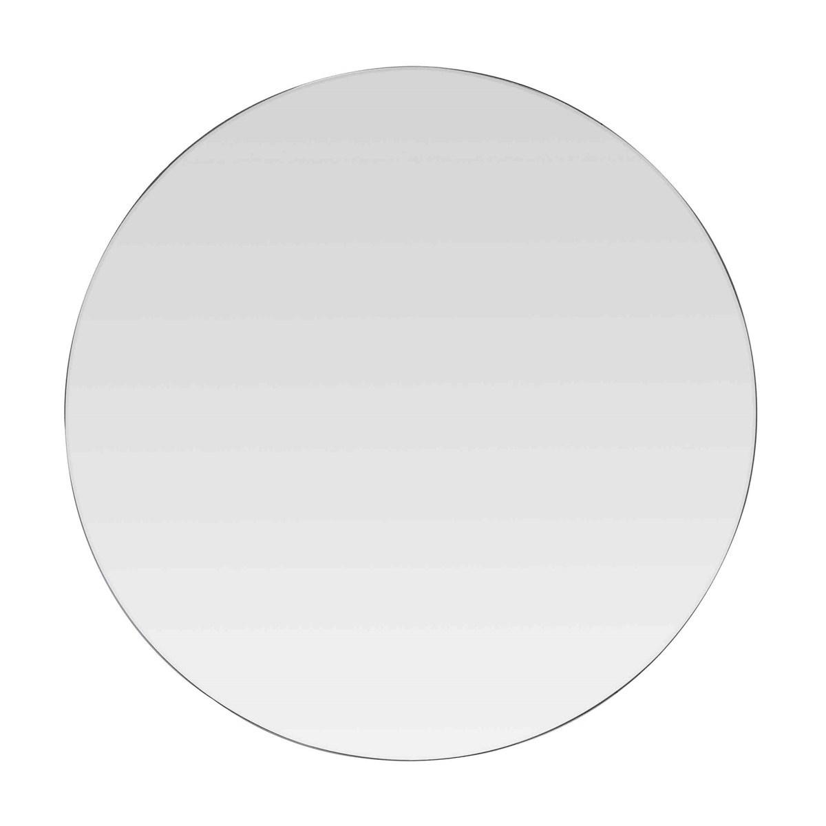Miroir rond en verre noir D: 80 cm