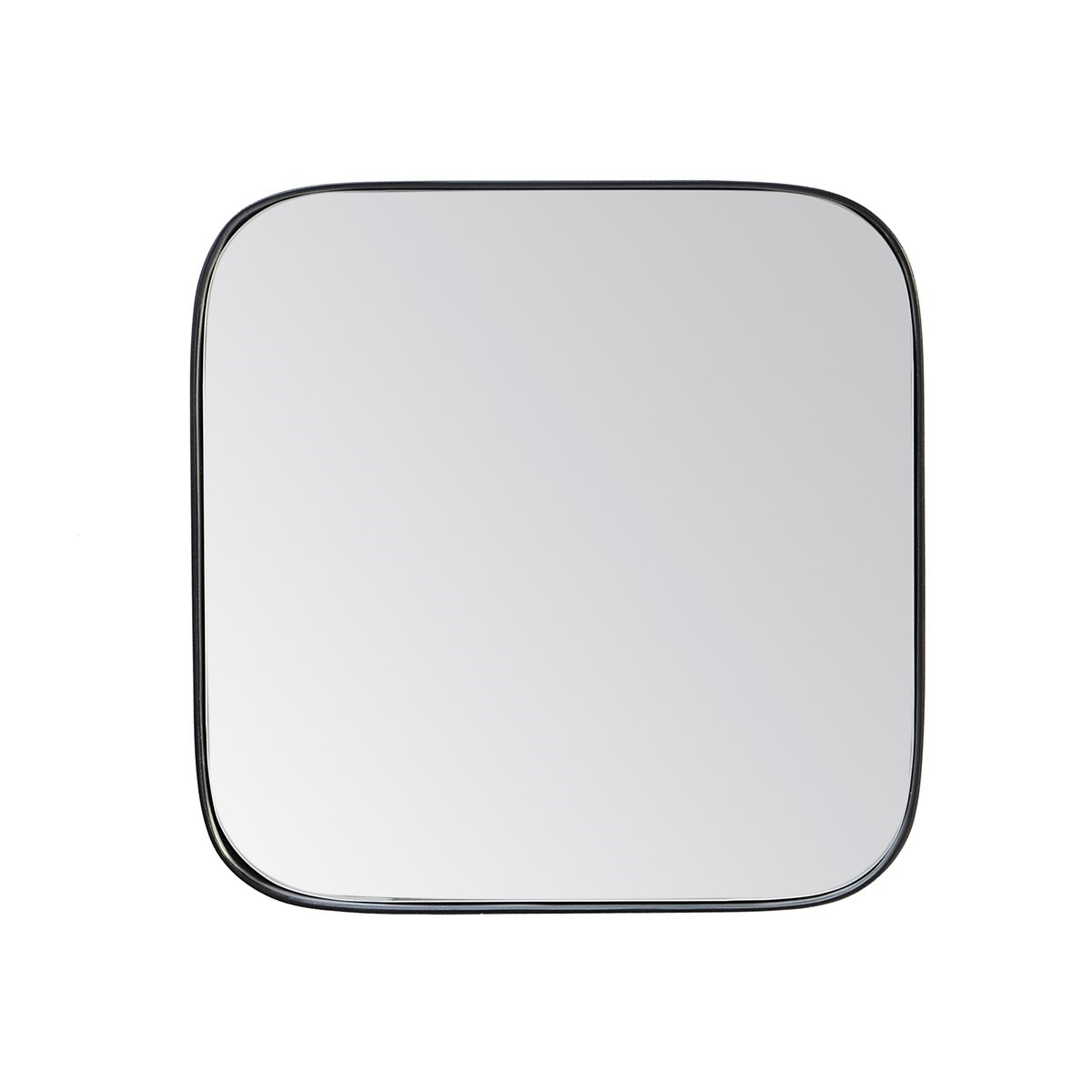 Miroir carré fin effet bois noir 30x30x4 cm