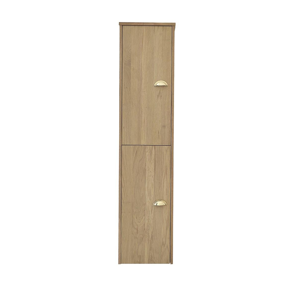 Colonne de salle de bain 2 portes en chêne