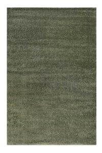 CALIFORNIA - Tapis uni shaggy intemporel vert olive pour salon, chambre 290x200