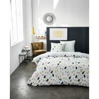 CAYO - Parure de lit en coton bleu 240x260