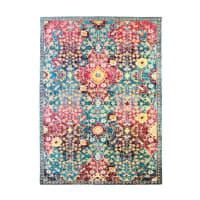 BROCANTE - Tapis pour intérieur-extérieur losanges rouge-bleu 160x230