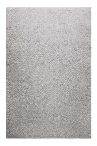 PARMA - Tapis uni très doux à mèches très hautes gris argenté 170x120