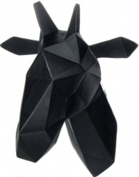 GIRAFFE - Sculpture murale trophé résine noir h33cm
