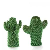 CACTUS - Lot de 2 vases cactus mini porcelaine verte