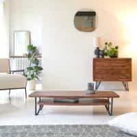 BONNIE - Table basse en bois de palissandre massif 110x60