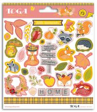 Lot de 72 stickers nature automne
