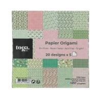 Lot de 100 papiers imprimé origami kyoto 15x15 cm