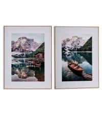 LAC MONTAGNE - Set de 2 tableaux décoratifs photo 61,5x81,5