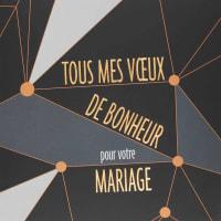 Carte mariage tous mes voeux de bonheur