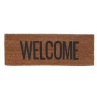 WELCOME - Paillasson noir en coco 75x26