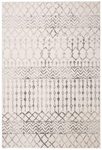Tapis de salon bohème chic  ivoire et gris 160x228