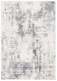 Tapis de salon bohème chic  ivoire et gris foncé 91x152