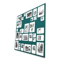 M30 - Cadre photo design pêle mêle vert 69x69cm